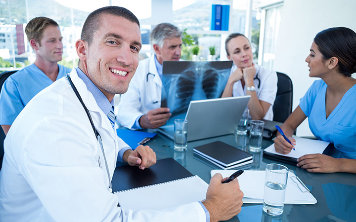Doctors in a meeting